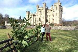 Aline and Alick Hay, owners of Duns Castle