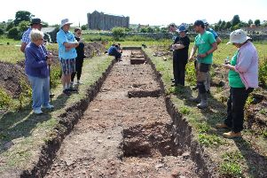 The trenches dug around Coldingham Priory have confirmed that the 7th century monastery was located there.