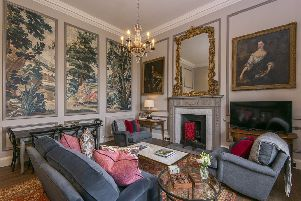 The living room of the Earl and Countess apartment.at Thirlestane Castle