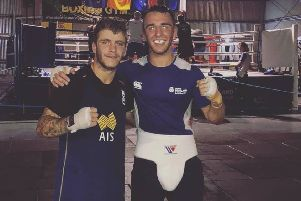 Nathaniel Collins (right) has successfully stepped up to the professional ranks after last year's Commonwealth Games
