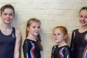 Left to right: David Routledge, Lizzie Foxton, Livvy Agnew and Maddie Rosher.