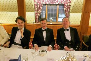 Gregory Lauder-Frost sat with Jacob Rees-Mogg  at the Traditional Britain Group dinner