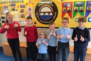 A sponsored silence that raised money for Coldstream Primary School was a thank you to the school for its support of Charlie Hamilton who moves up to Berwickshire High School after the summer.