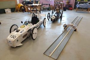 Primary school pupiils from the seven feeder schools to Eyemouth High  raced the kit cars they made on a special track to see which was fastest and which was the best design.