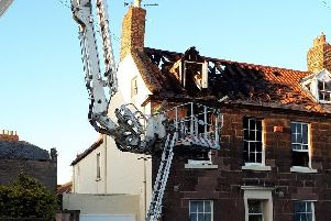 Damage caused by fire at The Avenue.