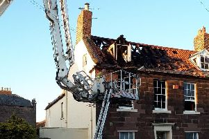 The fire damaged house at The Avenue in Berwick.