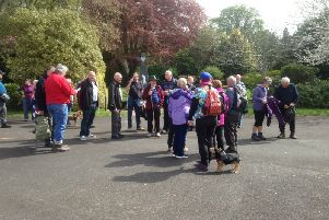 The Provincial Grand Lodge of the Scottish Borders annual charity walk took them through Dus Park