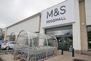 The Marks and Spencer food hall in Galashiels.