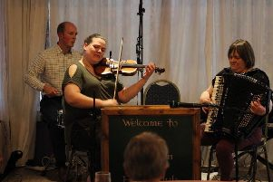 Guest artistes at  Kelso Accordion and Fiddle Club's last meeting of the season were the Susan MacFadyen band.'The club's fund-raising dance will be held on Friday 7th June, 7.30pm  in Kelso Rugby Club when there will be three local bands playing.'Everyone welcome.