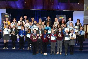 All the winners from this year's awards for North Lanarkshire Council's Junior Road Safety Officers