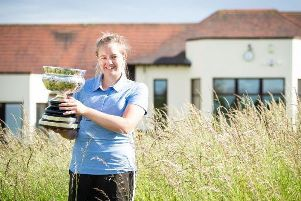 Kimberley Beveridge with the championship trophy