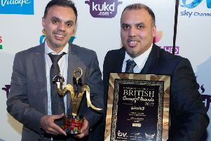 Sanam Tandoori in Falkirk's successes include the Best Indian Restaurant in Scotland award at the British Curry Awards 2017.