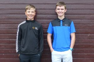 Callum Kenneally (left) and Findlay Rhind. of Duns.