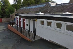 The council owned toilets at The Avenue, Lauder.