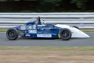 Jamie Thorburn of Duns at the wheel (picture by Rachel Bourne Photography).