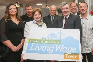 The campaign to make Glenrothes the first Living Wage Town in the UK was launched at Enterprise Hub Fife