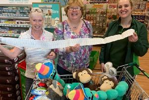 Volunteers of Canine Partners recently formed North Northumberland & Scottish Borders Support Group were invited to the Berwick branch of Pets at Home to choose products with a value of �250
