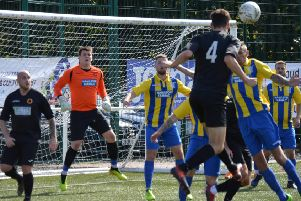 Rossvale have the Hurlford defence under pressure (pic: HT Photography/@dibsy_)