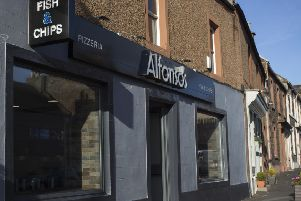Alfonso's fish-and-chip shop in Earlston High Street.