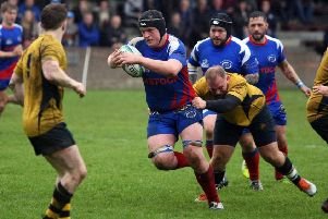 Connor Wood on the charge for Kirkcaldy against Gordonians (Pics by Michael Booth)