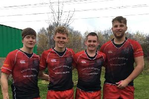 Duns young guns ' Andrew Duff, Tom Walker, Euan Rhind and Archie Bogle.