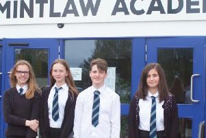 Team Smart Parks from Mintlaw: Lexie Burnett, Emma Anderson, Connor Galloway and Anastasija Kurnevica.