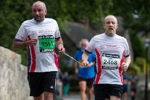 Neil Skene and his guide Alan Coull will be competing in the half marathon.