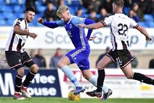 SCOTTISH LEAGUE TWO'PETERHEAD V ELGIN CITY'(DUNCAN BROWN)''PETERHEAD'S RUSSELL MCLEAN ON THE ATTACK