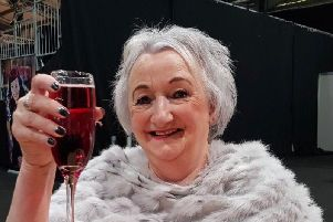 Connie Chiappino raises a glass to the success of her annual Christmas fair.