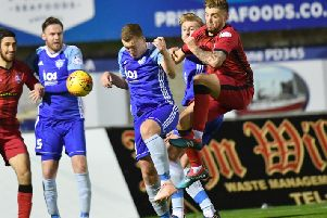 SCOTTISH CUP REPLAY'PETERHEAD v GREENOCK MORTON'(DUNCAN BROWN)''MORTON'S KERR WADDELL AND SCOTT BROWN CLASH