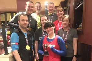 LLV jog leader Bex Oakenfull  won the Caley Cup trophy for being the most improved runner in the most recent 10 week training block
