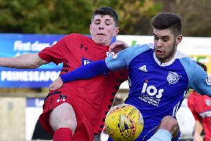 SCOTTISH LEAGUE 2'PETERHEAD V QUEENS PARK'(DUNCAN BROWN)''PETERHEAD'S JACK LEITCH AND KURTIS ROBERTS CLASH
