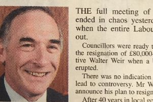 Walter Weir was set to retire from his �80k a year job.