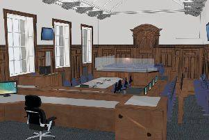 An artist's impression of one of the new courts