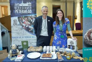 The Rediscover Peterhead table at the Holyrood reception event