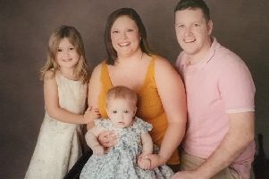 Neil and Naomi Robertson-Murray with their children, Layla and Leilani