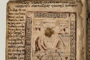 The St Matthew page of the Book of Deer