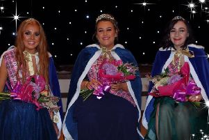 Buchan Queen Christina Barnett with Princesses Emma Fraser and Aylie Donoghue