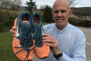 Rev Sean Swindells will slip on his running shoes for the half marathon event