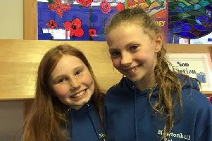 Competition winners Esme Forsyth and Eva Combe
