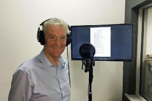 Peter in the Admiralty Gateway Recording Studio