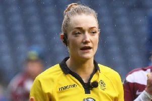 Hollie Davidson, women's rugby referee from Aboyne