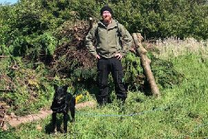 Brave Outdoors Community Woodland project manager Lewis Swales