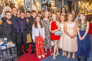 Delighted pupils of Meethill School who took top spot in the inaugural Doric Film Festival.