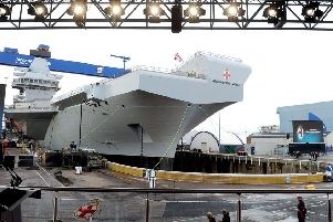 The HMS Prince of Wales is set to leave soon.