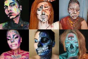 The Peterhead beautician creates intricate designs on her face and body