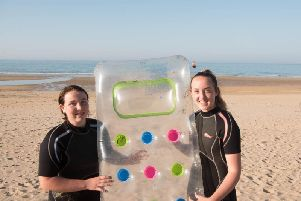 Isla (15) and Eilidh (14) have been hailed heroes for their brave actions. Picture: Brochophotohouse
