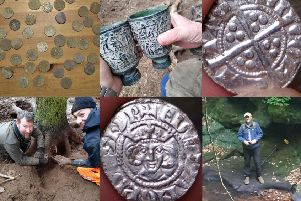 Experts have hailed the find in Roslin, uncovered by amateur historian Jaroslaw Musialkowski (bottom right)  in March.