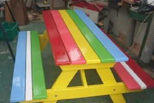 This bench, created by Peterhead Men's Shed, could be the template for others scattered along the Braes for all to enjoy.