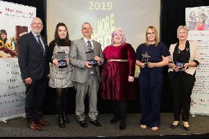 Pictured (left to right) are Gerry Hennessey (managing director, Meallmore Ltd), Megan McDougall (Bayview), Paul O Brien (St Modans), Michelle McManus, Julie-Anne Thomson (Bayview) and Valerie MacLeod (Crimond House).